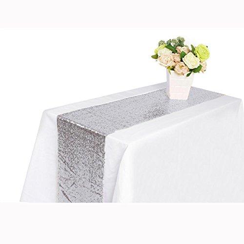 Iuhan New Sequin Satin Table Runner 30x180cm Glitter Wedding Party Banquet Venue Decor (D)
