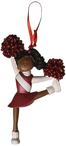 Ornament Central OC-006-R-AA African/American Red Uniform Cheerleader Figurine (Cheerleader Figurine)