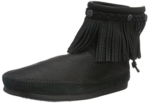 Minnetonka Damen Hitopbackzipboot Bootsschuhe, Schwarz (Black), 42 EU