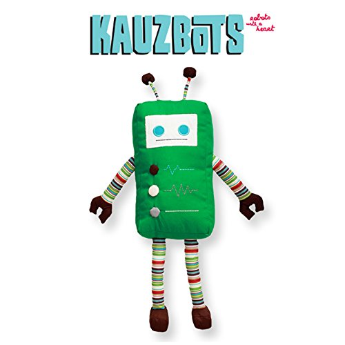 KAUZBOTS - Plush Robot Plushies Cute Stuffed Animals - Each Purchase Helps Plant Trees (KALE)
