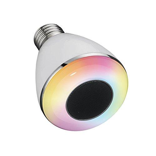 Bluetooth smart rgbw led light bulb music speaker night for Bluetooth controlled light bulb