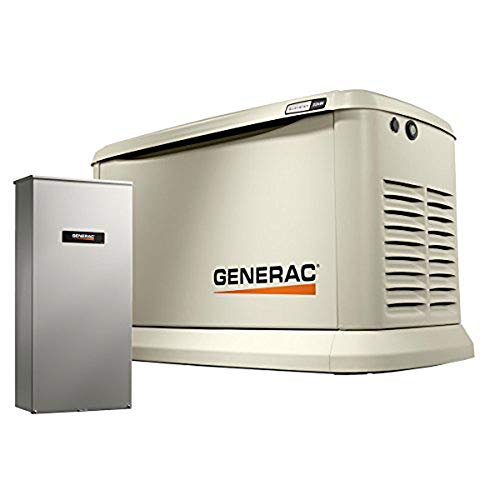 Guardian Automatic Generator - Generac 70432 Home Standby Generator Guardian Series 22kW/19.5kW Air Cooled with Wi-Fi and Transfer Switch, Aluminum
