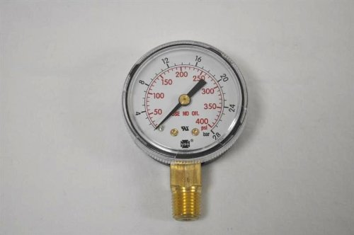 Pressure Gauge, 0 to 400 psi, 0 to 28 Bar by Miller Electric