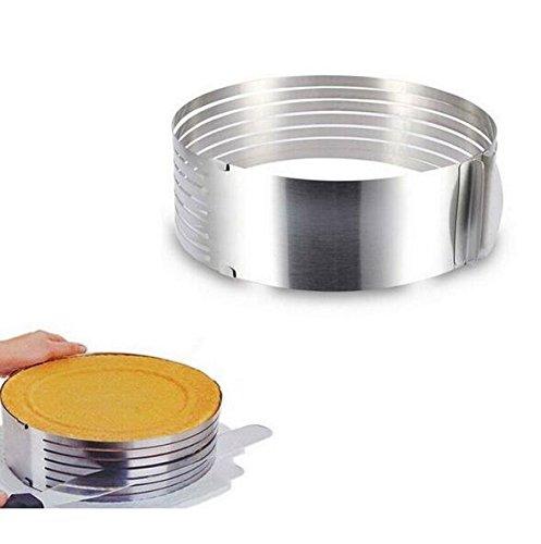 JOYOOO Cooking Cake Tools Metal Circle Adjustable Stainless Steel Mousse Cake Layer Cut Tools Cake Slicer Device Mold Bakeware