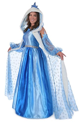 Princess Paradise Women's Icelyn Winter Deluxe Costume, Blue, Small