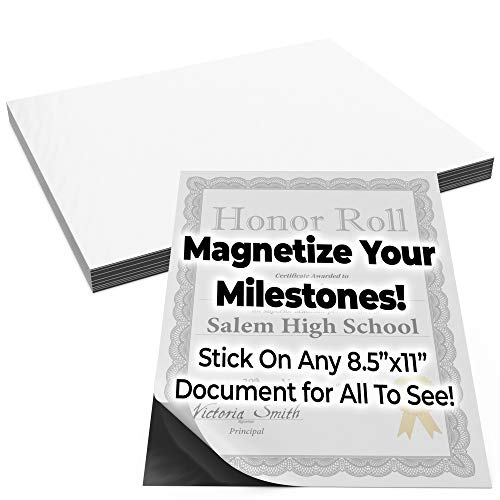 Magnetize Memories with 8.5x11in Adhesive Photo Magnets 30pk. Peel-and-Stick Magnetizers Turn School Crafts, Family Pictures or Kids Art Into Durable, Flexible Gifts. Custom Sheets for Fridge or Car ()