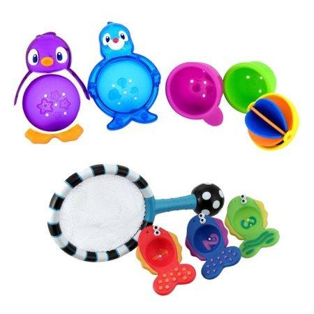 Munchkin Lazy Buoys Bathtub Toys with Catch N Count Net (Munchkin Lazy Buoys Bathtub Toys)