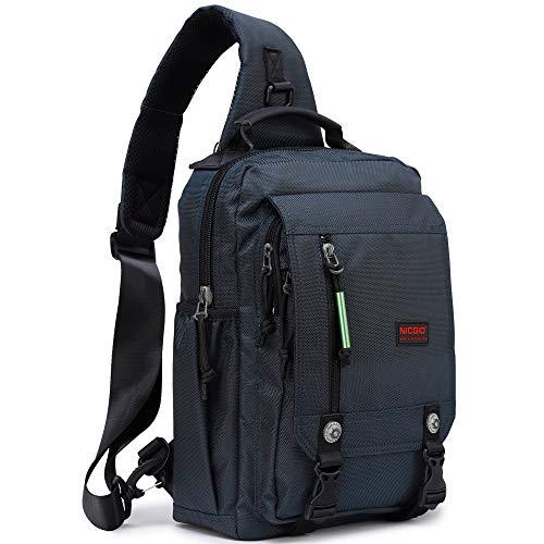 Nicgid Sling Bags Chest Shoulder Backpacks, 14.1-Inch Laptop Backpack Crossbody Messenger Bag Travel Outdoor Men Women
