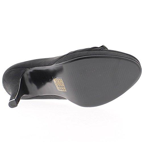 Chaussmoi Mat Noir Pompes Talons 11cm Et 2cm Plateforme