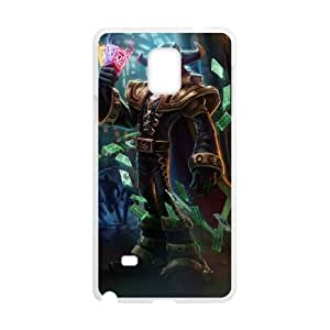 Samsung Galaxy Note 4 Cell Phone Case White Twisted Fate league of legends Gcdmd