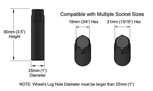1pc 3//4 Hex Socket 13//16 and 21mm Compatible with 19mm 7 Point Spline Drive Tuner Socket Key Tool for Seven-Spline Wheel Lock Lug Nuts 20mm Inner Diameter