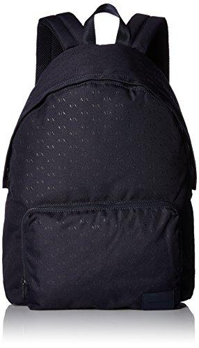 Armani Exchange Men's All Over Micro Print Logo Backpack, Navy, UNI