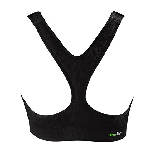 Bravity Women Anti-Wrinkle Cleavage Sleep Bra/Seamless & Adjustable Black