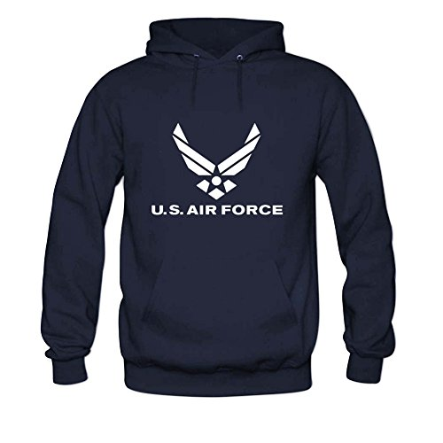 (Andrea Sotaski Air Force Logo Mens Hoody Sweatshirt S Navy)