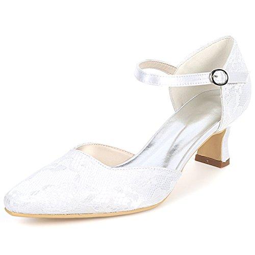 Spitze Hochzeitsschuhe 5 Moderne Benutzerdefinierte Satin 5 Frauen Ferse Elobaby cm Schnalle Heels High Plattform qz1BC