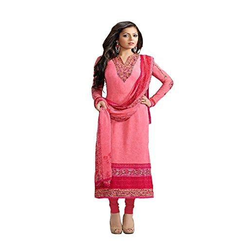Eid Muslim Wear Ethnic Designer Women Hijab Indian Straight Salwar Kameez suit 8838