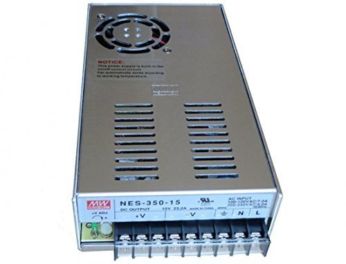 Baomain Power Supply MeanWell NES-350-15 15V 350 Watt Ul Switching 110-240 Volt