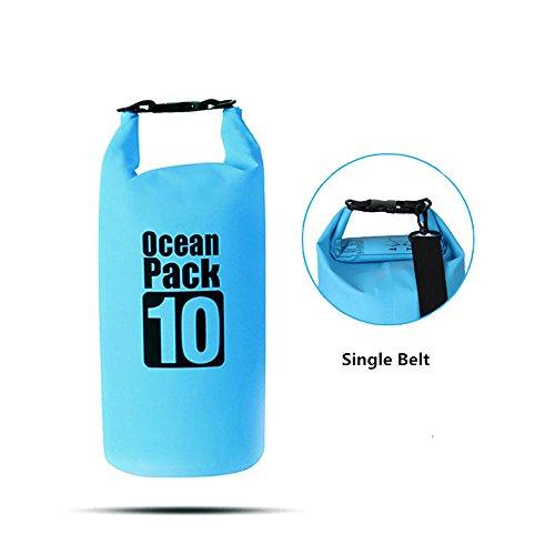 efanr 10L Wasserdichte Dry Bag Outdoor PVC Schwimmende Barrels Eimer Tasche Wandern Camping Reise Sack Tasche tragbar wasserfest versiegelte Aufbewahrungstasche blau LZM0XMdX