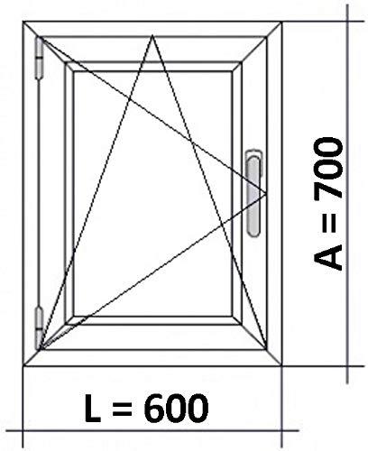 Ventana Pvc 600x700 Izquierda Oscilobatiente Practicable Mate