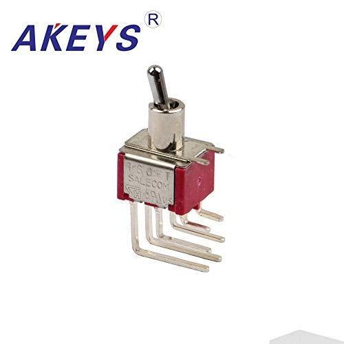 1PCS MTS-202-C4-NO-6.9mm T80-T6MM bent rocker arm switch rocker lever switch 6P2T