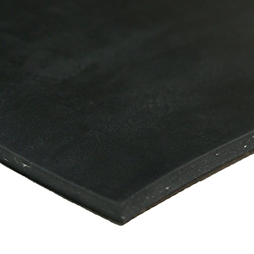Rubber-Cal Diamond Plate Rubber Flooring Rolls, 1/8-Inch x 4 x 6-Feet, Black - Pvc Flooring