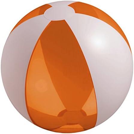 eBuyGB Pelota de Playa Inflable, Transparente Naranja/Blanco, 9 ...