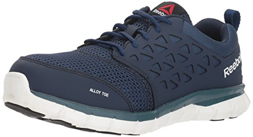 Reebok Work Men's Sublite Work RB4443 Industrial and Construction Shoe, Navy Blue, 9 M US (Electrostatic Toe Dissipative Slip)