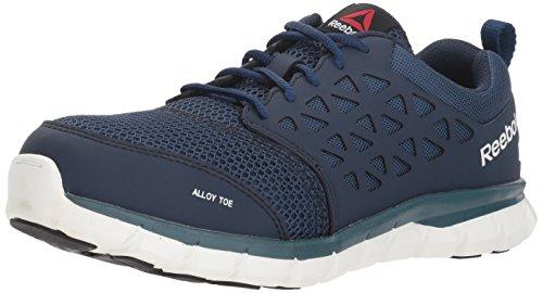 Reebok Work Men's Sublite Work RB4443 Industrial and Construction Shoe, Navy Blue, 9 M US (Dissipative Electrostatic Slip Toe)
