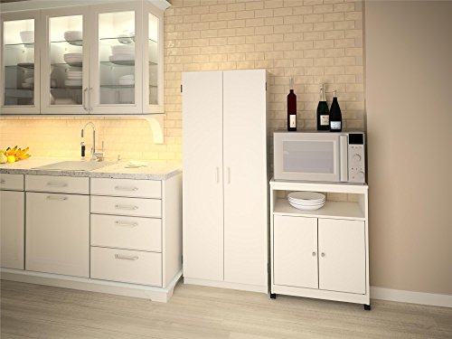 System build flynn wooden storage cabinet white buy for Kitchen cabinets jeddah