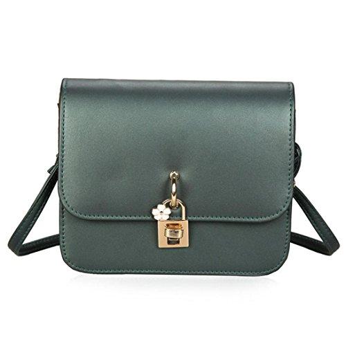 Esailq Small Shoulder Bags Leather Handbag Cheap Womens Brown Girls R Green