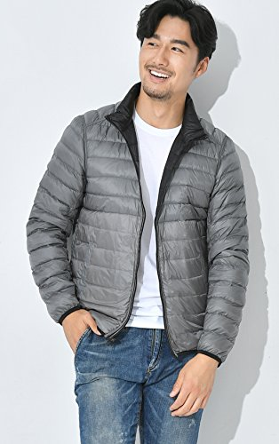 Black Stand Ultra Zip Reversible Men's Chouyatou Full Down Collar Packable Jacket PqwxO5Zv5
