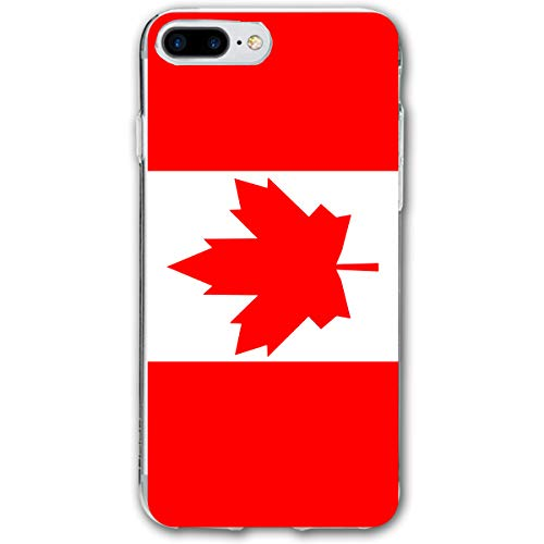 Phone Case Compatible with iPhone 7 Plus iPhone 8 Plus Canada Flag.png Lightweight Anti-Fingerprint Slim Soft Covers