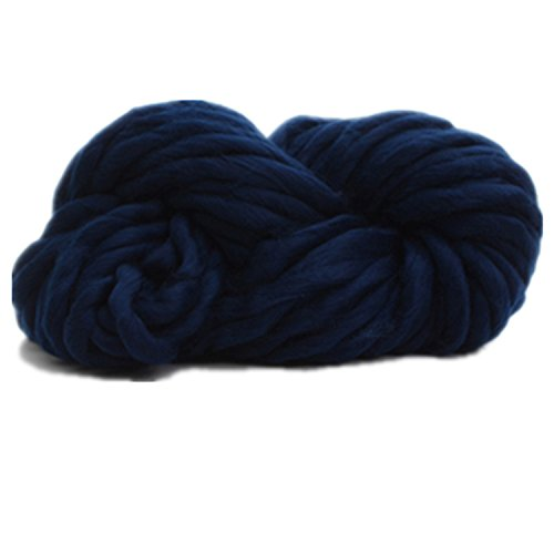 Celine lin Wonderful Chunky Roving Big Yarn for Hand Knitting Crochet, 250g(8.8 Ounze),Navy blue