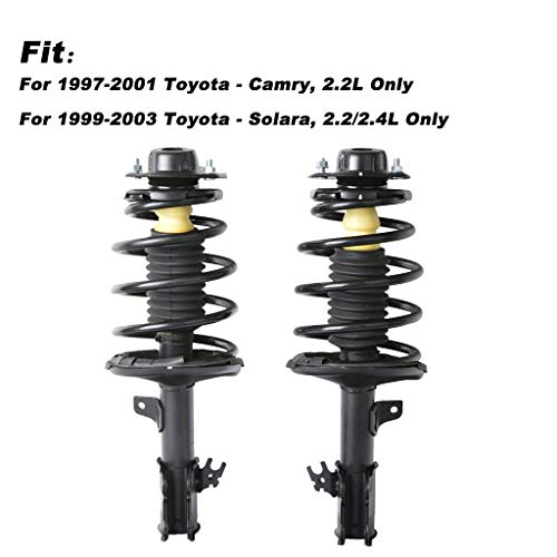Sonmer Front Driver & Passenger Side Complete Struts & Coil Spring Assemblies Absorber for 1997-2001 Camry-2.2L Only and 1999-2003 Solara-2.2/2.4L Only by Sonmer_Car Kit (Image #3)