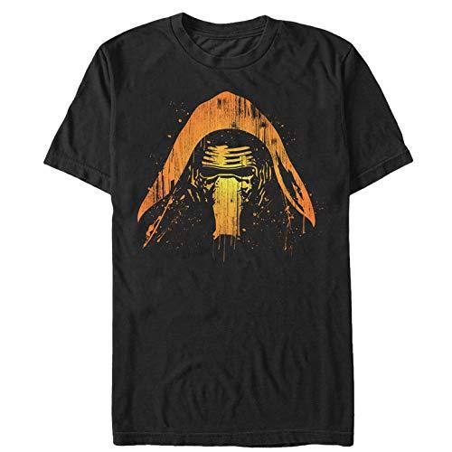 Star Wars The Force Awakens Men's Halloween Kylo Shadows Black T-Shirt -