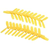 BangBang 10 Pairs Racerstar 2030 R-BN55X3 55mm 3 Blade Propeller Bullnose 1.5mm Hole For 1103-1106 Motor (10 Pairs: Color Yellow)
