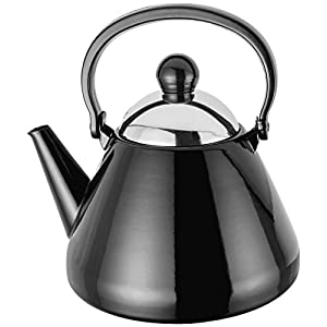 BLACK 1.5L STOVE TOP KETTLE ALL HOBS OVEN SAFE 20CM X 20CM X 22CM 5 YEAR GUARANTEE