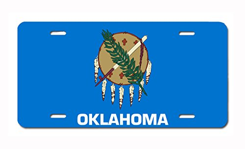 U.S. State Flag Front Plate License / Vanity Plate – Made in the U.S.A. (Oklahoma)