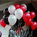 "BALL-LM 100pcs 12"" Red&White&Black Latex Balloons for Party Decoration and Supplies"