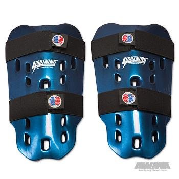 - Pro Force Lightning Shin Guards - Blue - Medium