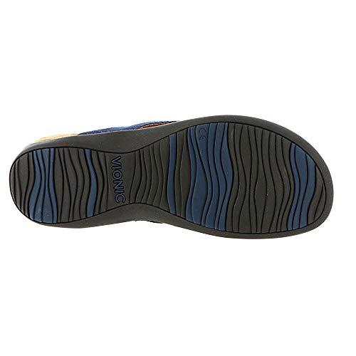 Textile II Vionic Rest Sandals 44 Bella Womens Denim 4xqFCX