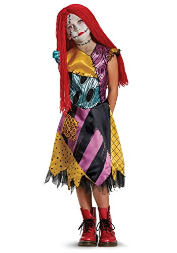 Before Sally Christmas The Dress Costume Nightmare (Sally Deluxe Child Costume, Multicolor, Medium)
