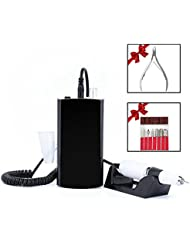 Professional Portable Cordless Rechargeable Electic Nail Drill Machine,30000RPMl Electric Wireless Nail Manicure Pedicure Machine For Acrylic Nail With Sanding Bits (Black)