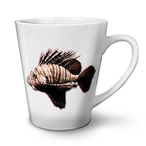 [Simple Scorpion Fish Striped White Tea Coffee Ceramic Latte Mug 12 oz | Wellcoda] (Simple Parade Float Ideas)