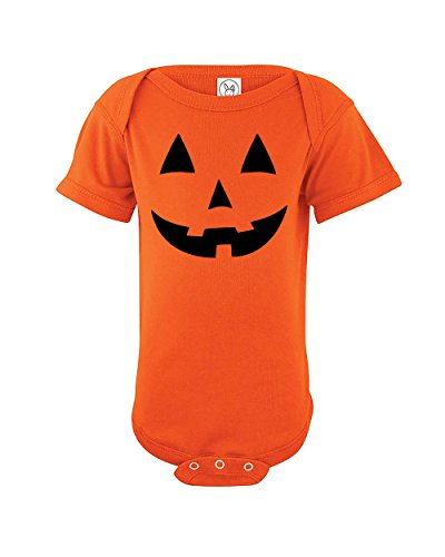 Jack O' Lantern Baby Halloween Costume | Cute Baby Pumpkin | Funny Baby One Piece Infant Novelty Bodysuit | Orange | 0-3 (Funny Halloween Costumes For Mom Dad And Baby)