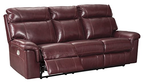 Signature Design by Ashley 5620215 the Duvic Power Reclining Sofa, (Dual Power Reclining Sofa)