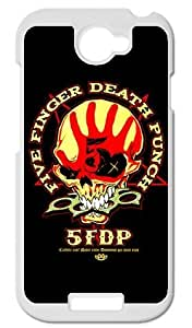 Five Finger Death Punch Poster The Way Of The Fist Back Black Case Protector for HTC One S