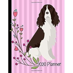 2020 Planner: English Springer Spaniel Dog Pink 2020 Monthly Planner Organizer Undated Calendar And ToDo List Tracker Notebook 12