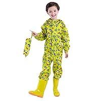 WYTbaby Kids Raincoat Ponchos Overall Rainsuit Boys and Girls Rain Gear,2-14 Years