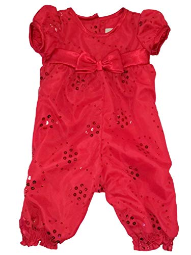 Infant Toddler Girls Red Christmas Holiday Party Romper Jumper Dress 3-6M